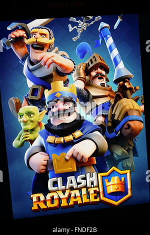 Clash Royale mobile game poster - Stock Photo