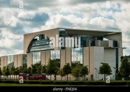 German Chancellery building - Bundeskanzleramt  in Berlin Germany - Stock Photo