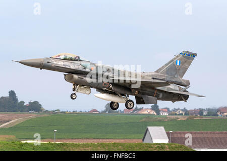 Greek Air Force (Hellenic Air Force, HAF) Lockheed Martin F-16 Fighting Falcon fighter aircraft - Stock Photo