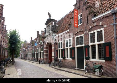 Frans Hals museum, Groot Heiligland, Haarlem, Holland - Stock Photo