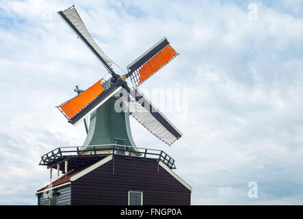 Amsterdam, Waterland district, Zaandam, the famous area of the mills - Stock Photo