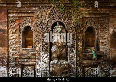 Rangda the demon queen statue in Ubud Palace, Bali, Indonesia. - Stock Photo