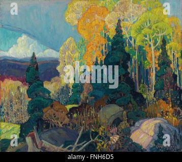 Franklin Carmichael - Autumn Hillside - Stock Photo
