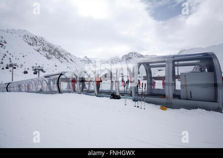 Tignes, France, Ski resort - Stock Photo