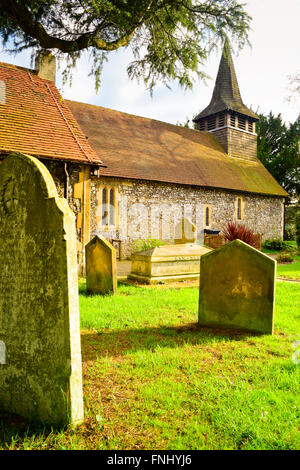 Diocese of Guildford. Parish Church of St. Mary the Virgin. Chessington. London, United Kingdom - Stock Photo