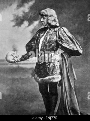 Sarah Bernhardt as Hamlet , c.1899 - Stock Photo
