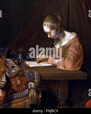 Lady Reading a Letter (detail)