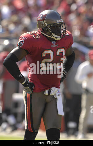 Tampa, Florida, USA. 4th Nov, 2007. Nov. 4, 2007; Tampa, FL, USA; Tampa Bay Buccaneers defender (23) Jermaine Phillips - Stock Photo