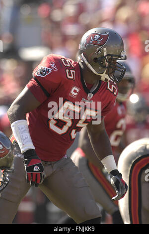 Tampa, Florida, USA. 4th Nov, 2007. Nov. 4, 2007; Tampa, FL, USA; Tampa Bay Buccaneers defender (55) Derrick Brooks - Stock Photo