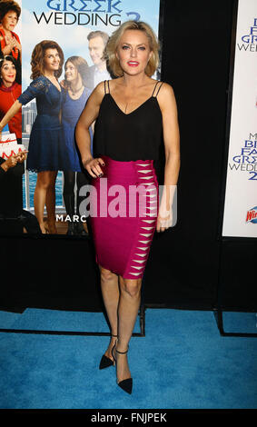 New York, USA. 15th Mar, 2016. Actress ELAINE HENDRIX attends the World Premiere of 'My Big Fat Greek Wedding 2' - Stock Photo