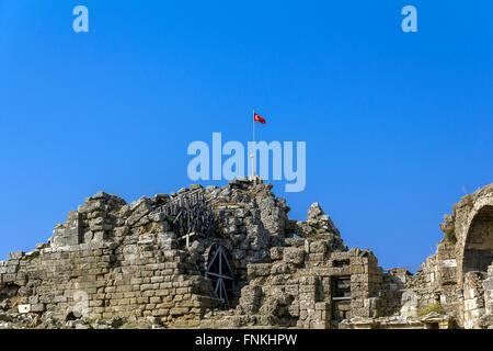 Amphitheatre, Side, Turkey - Stock Photo