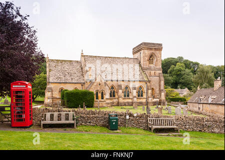 St Barnabas Church at Snowshill in Broadway ,  Worcestershire , England , Britain , Uk - Stock Photo