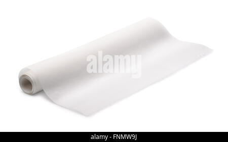 Tracing paper roll isolated on white - Stock Photo