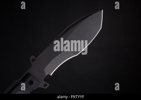 Pocket knife on black - Stock Photo