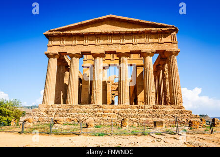 Agrigento, Sicily, Italy. Ercole Ancient Greek temple in the Valley of the Temples, Sicilian island. - Stock Photo