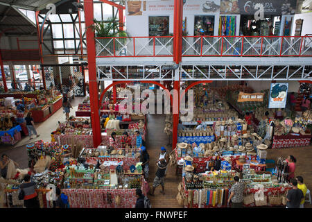 Papeete Municipal covered Market, Papeete, Tahiti, French Polynesia, Tahiti Nui, Society Islands, French Polynesia, - Stock Photo