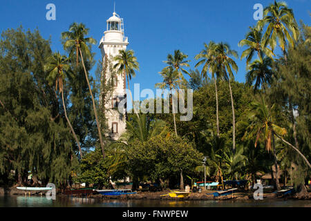 Venus Point Lighthouse (aka Pointe Venus), island of Tahiti, French Polynesia, Tahiti Nui, Society Islands, French - Stock Photo