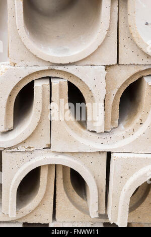Polymer concrete drainage tray on the basis of construction - Stock Photo