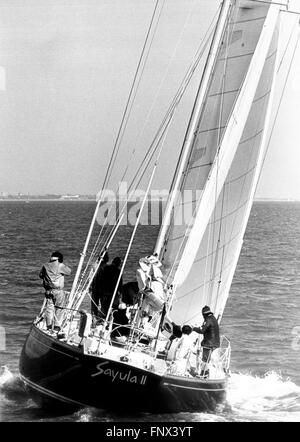 AJAX NEWS PHOTOS. 1974. SOLENT, ENGLAND. - WHITBREAD ROUND THE WORLD RACE - MEXICAN ENTRY SAYULA II (RAMON CARLIN) - Stock Photo