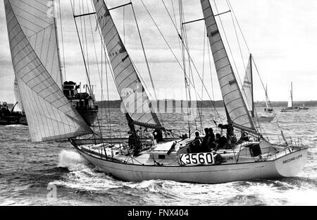 AJAX NEWS PHOTOS. 1973. PORTSMOUTH, ENGLAND. - WHITBREAD ROUND THE WORLD RACE - SECOND LIFE (GB) AN OCEAN 71 KETCH, - Stock Photo