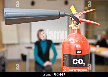 Co2 Fire extinguisher - Stock Photo