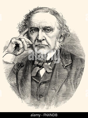 William Ewart Gladstone, 1809-1898, a former British Prime Minister, - Stock Photo