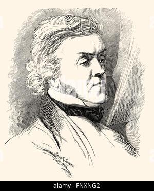 William Makepeace Thackeray, 1811 - 1863, an English writer - Stock Photo