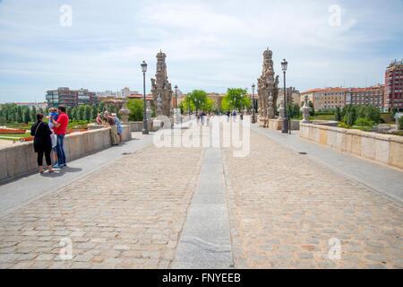 Toledo bridge. Madrid, Spain. - Stock Photo