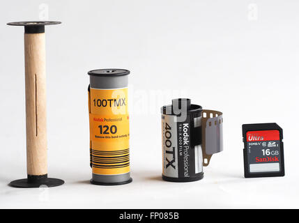 From Analog to Digital, From Film to Memory Card. - Stock Photo