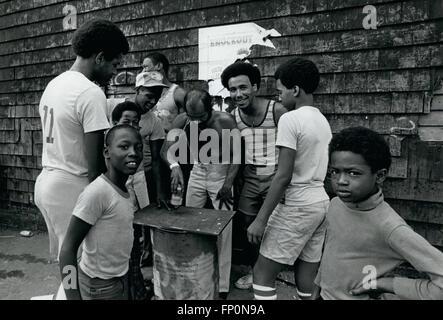 1962 - Bushwick section of Bky, Playing Chug-A-Lug A Betting game. © Keystone Pictures USA/ZUMAPRESS.com/Alamy Live - Stock Photo