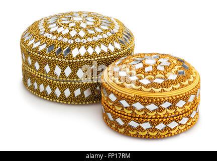 indian jewel box isolated - Stock Photo