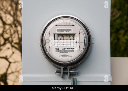 Electric meter for a mobile home park. - Stock Photo