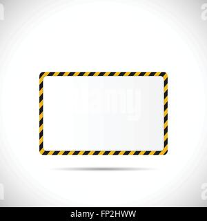 Illustration of a construction road sign isolated on a white background. - Stock Photo