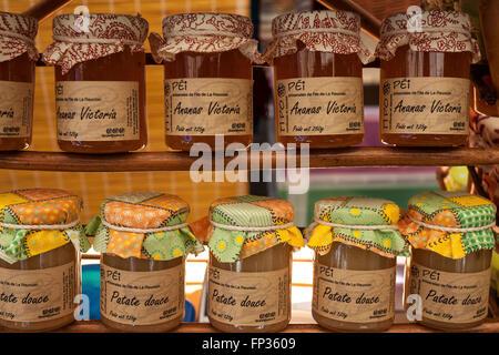 jars of french jam stock photo royalty free image. Black Bedroom Furniture Sets. Home Design Ideas