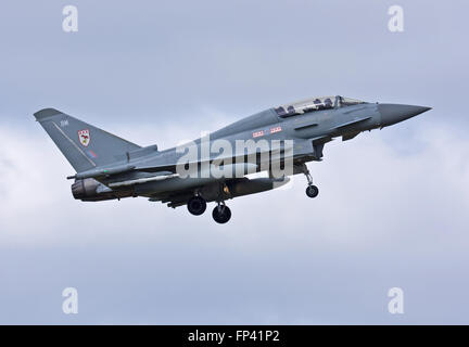 Two seat Typhoon of No.29(R) Squadron, Royal Air Force Coningsby - Stock Photo