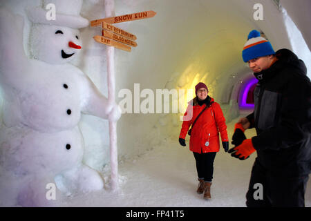 Hotel, rooms, acomodation. Igloo Hotel. Lapland, Finland. Snowman World Igloo Hotel in Rovaniemi in Lapland Finland. - Stock Photo