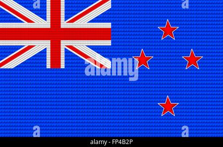 New Zealand flag embroidery design pattern . - Stock Photo
