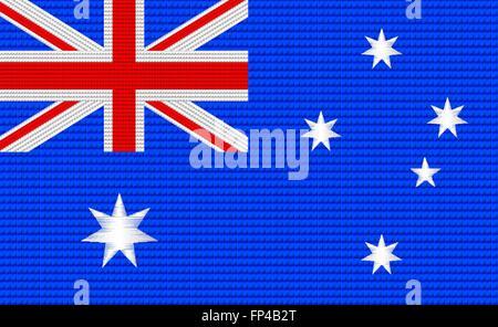Australian flag embroidery design pattern . - Stock Photo