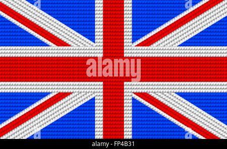 UK flag embroidery design pattern . - Stock Photo