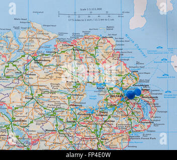 Detailed Road Map Of Ireland.Detailed Map Of Northern Ireland