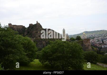 Tbilisi, Georgia. The view from Botanical Garden - Stock Photo