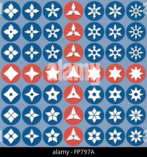 abstract icons shurike - Stock Photo