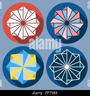 abstract octagonal shuriken - Stock Photo