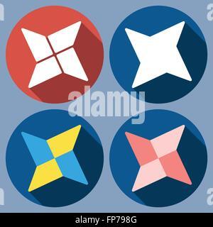 abstract quadrangular shuriken - Stock Photo