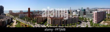 Poble Nou quarter in Barcelona. - Stock Photo