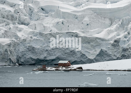 Almirante Brown Station, Argentine Antarctic base and scientific research station named after Admiral William Brown, - Stock Photo
