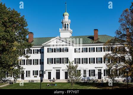 Dartmouth Hall, Dartmouth University, Hanover, New Hampshire, USA - Stock Photo