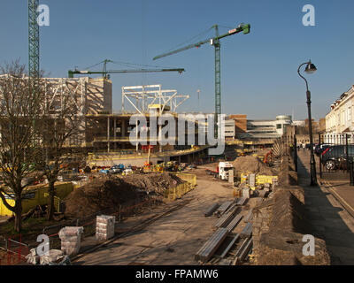 Construction of the West Quay Watermark development Southampton Hampshire UK - Stock Photo