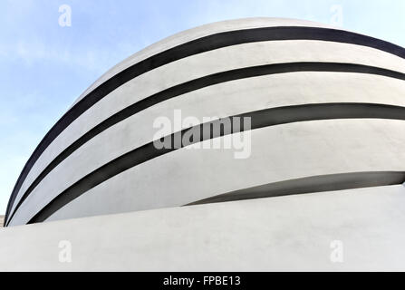 New York City - January 31, 2016: The famous Solomon R. Guggenheim Museum of modern and contemporary art in New - Stock Photo