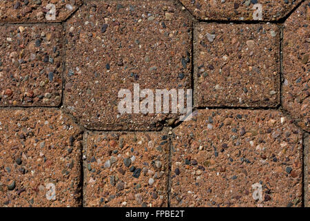 Close-up of Red Paving Stones - Stock Photo